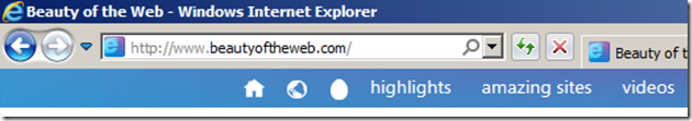 IE9 with default Anything Bar