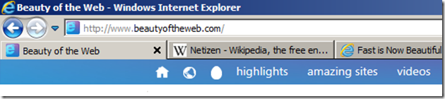 IE9 with full-width Anything Bar