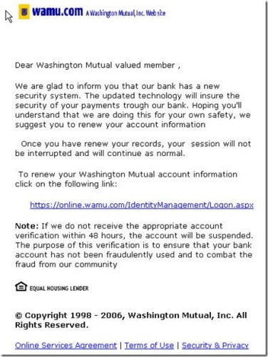 Scary Washington Mutual Online Phish | OpsanBlog